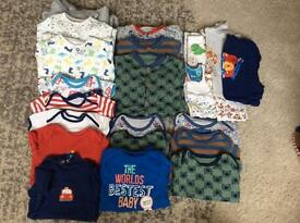 Boys 6-9m sleep suits and vests