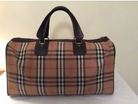 100% Genuine Classic Burberry Holdall