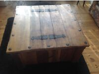 Rustic Pine Chest/Coffee Table - Quick Sale Needed