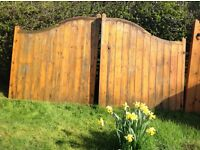 High Centre double Wooden driveway gates and Single Garden gate