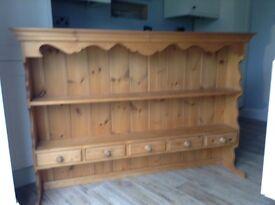 Large wooden dresser top