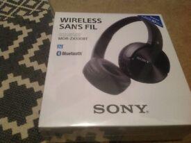 Boxed, brand new Sony Headphones. Bluetooth
