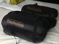 2 ProAction Adult Sleeping Bags hardly used good as new perfect condition