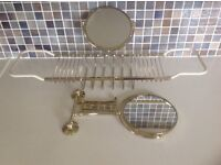 Extended Shaving mirror/ soap tray with mirror