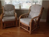 Two Cane Chairs in excellent condition ideal for Conservatory