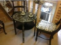 Stunning little shabby chic table and chairs,nice as they are or ideal shabby chic project