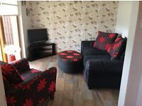 3 Seater, Arm Chair & foot stool