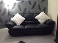 3+2 seater real leather sofas immacculate condition
