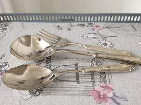 Silver Plated Serving Cutlery.