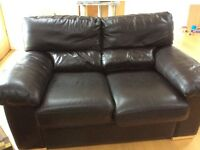 Double Brown leather Suite
