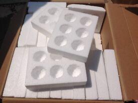 Egg boxes X 27 for posting eggs .