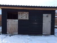 Stable and tack room for pony