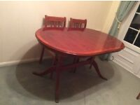 Yew Wood Dining Table+chairs
