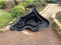 Ornamental pool liner for garden pond