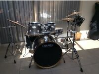 Full drum kit and quiet pads. Hardly used