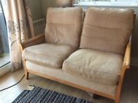 Parker Knoll 3 piece suite sofa chair wicker good condition *REDUCED*