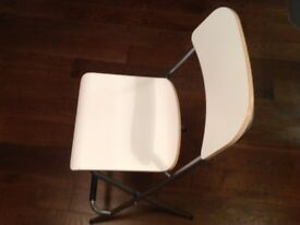 stool/chairs foldable IKEA Franklin model black and white