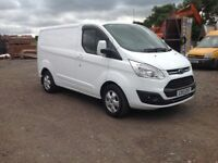 Ford transit custom 2.0ltr ad blue 130bhp swb limited NO VAT 17 reg