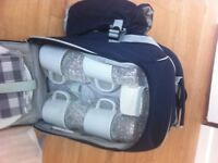 Picnic Backpack - New apart from flask.