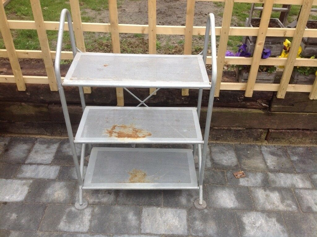 Lightweight Metal Shelf Unit Used In Garden And Shed In