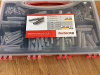 FISCHER FIXING CONTAINER /carrier containing 290 mixed fixing plugs.