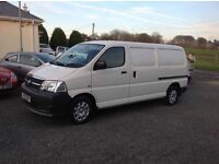 2009 Toyota Hiace 2.5 d4d LWB +++ 1 local shopkeepers van from new +++tailgate model ++ must be seen