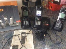 Gigaset A420 A trio answer phone set
