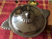 Stainless steel serving dish Never used