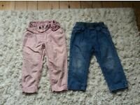 2x trousers 18-24 months great condition