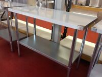 Stainless Steel Table 120cm / Restaurant / Take Away / Hotel