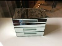 3 Mirror Glass Jewellery Boxes
