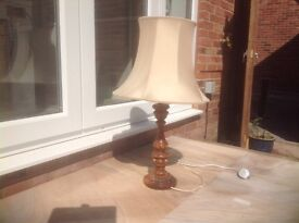 Wooden lamp suitable for lounge
