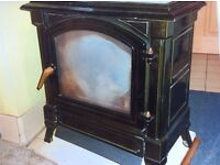 Wood burner cast iron stove (Multifuel) second hand