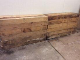 12 wooden sleepers 1 metre long.
