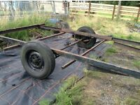 Flat bed trailer and chassis