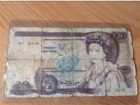 Old £20 Note from 1970-1993