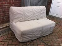 Ikea sofa bed, double, with cover