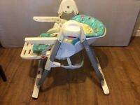 Chicco adjustable cradle/high chair suitable from birth