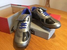 Brand New Clarks Leather football boots with studs / youth size 1