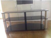 Alphason Designs Plasma/LCD Display Support TV Stand. Black glass