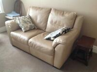 Natuzzi Italian Leather 2 seater settee