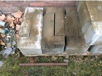 "25 No 9"" concrete quoins ex Tullyleek Concrete."