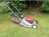 Honda self propelled lawn mower model 476 in immaculate condition recent service in June.
