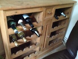 Lovely solid pine wine rack