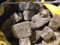 Large bag of granite cobbles