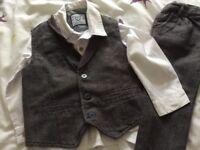 Boys grey suit 18-24 months