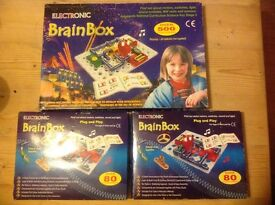 BrainBox electronics. Educational game. 2 complete sets and 1 incomplete large set.