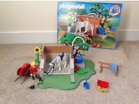 Playmobil Horse washing station 4193 very good condition
