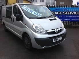 VAUXHALL VIVARO FACTORY CREWCAB DAY VAN LWB *NO VAT* YEARS MOT EXCELLENT CONDITION RENAULT TRAFIC!!!
