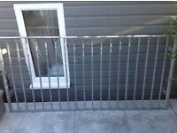 Galvanised steel Balustrade Railing Juliette Balcony 192cm wide X 90cm high